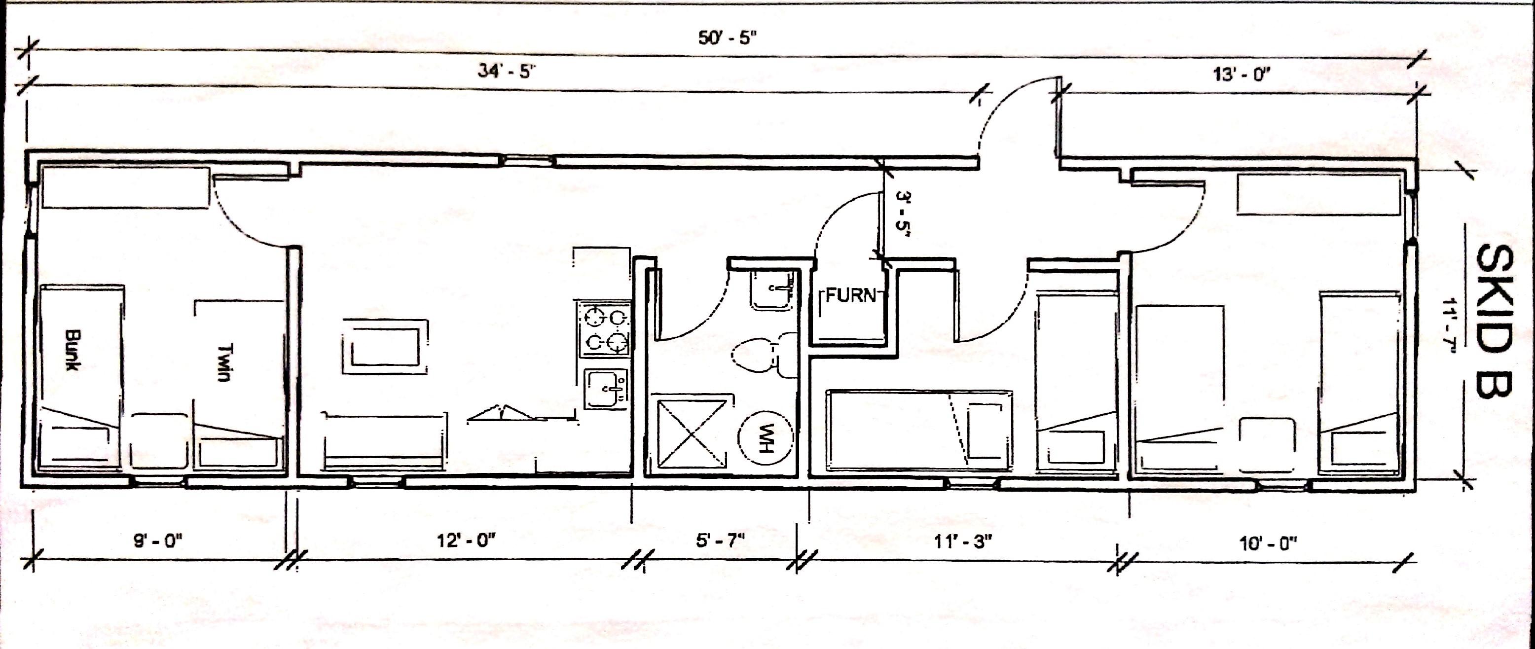 diagram of bunkhouse bunk house 4  bunk house 4