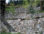 Castle Rock Retaining Wall and Steps